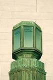 Εξωτερικό φως του Art Deco χαλκού στοκ φωτογραφίες με δικαίωμα ελεύθερης χρήσης