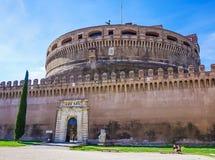 Εξωτερικό Castel Άγιος ` Angelo Castelo Di Άγιος Angelo στο ROM Στοκ φωτογραφία με δικαίωμα ελεύθερης χρήσης