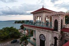 Εξωτερικό Palacio de Valles, Cienfuegos, κεντρική Κούβα στοκ εικόνα