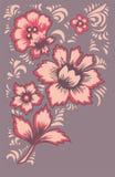 Εξωτικά λουλούδια καρτών Μυθικό floral σχέδιο Στοκ Εικόνες