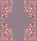 Εξωτικά λουλούδια καρτών Μυθικό floral σχέδιο Στοκ φωτογραφία με δικαίωμα ελεύθερης χρήσης
