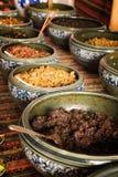 Εξωτικά πιάτα τσίλι, χωριό Κίνα Hongcun Στοκ εικόνες με δικαίωμα ελεύθερης χρήσης