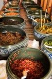 Εξωτικά πιάτα τσίλι, χωριό Κίνα Hongcun Στοκ εικόνα με δικαίωμα ελεύθερης χρήσης