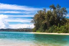 Εξωτική παραλία στο AO Nang, επαρχία Krabi, Ταϊλάνδη Στοκ Φωτογραφία