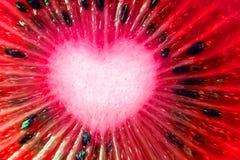 Εξωτική φρέσκια φυσική κινηματογράφηση σε πρώτο πλάνο φρούτων Κόκκινη καρδιά Valentine& x27 ημέρα του s Στοκ φωτογραφία με δικαίωμα ελεύθερης χρήσης