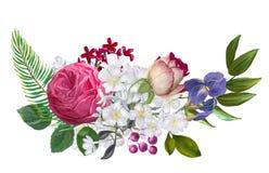 Εξωτική floral σύνθεση απεικόνιση αποθεμάτων