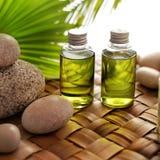 εξωτική flower massage products spa πετσέτα πετρών Στοκ Εικόνες