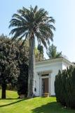 Εξωτικός κήπος με το φοίνικα Μπελάτζιο Ιταλία Como στοκ φωτογραφία