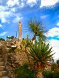 Εξωτικός κήπος στο χωριό Eze, υπόστεγο δ ` azur, Γαλλία στοκ φωτογραφία με δικαίωμα ελεύθερης χρήσης