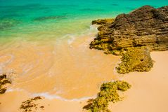 Εξωτικός παράδεισος θέρετρο τροπικό Καραϊβικός λιμενοβραχίονας θάλασσας κοντά σε Cancun Παραλία του Μεξικού τροπική στοκ εικόνα με δικαίωμα ελεύθερης χρήσης