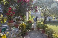 Εξωτικός σχεδιασμένος κήπος σχέδιο τοπίων του ινδικού κήπου στοκ φωτογραφία με δικαίωμα ελεύθερης χρήσης