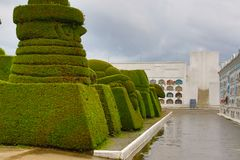 Εξωτικός topiary που δημιουργείται στο νεκροταφείο Tulum στο βόρειο τμήμα του Ισημερινού στοκ εικόνες με δικαίωμα ελεύθερης χρήσης