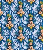 Εξωτικό άνευ ραφής σχέδιο λουλουδιών συρμένο διάνυσμα χεριών Στοκ Φωτογραφία