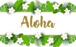 Εξωτικό έμβλημα aloha Στοκ φωτογραφία με δικαίωμα ελεύθερης χρήσης