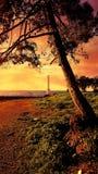 εξωτικό ηλιοβασίλεμα Στοκ φωτογραφίες με δικαίωμα ελεύθερης χρήσης