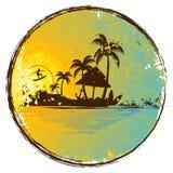 εξωτικό νησί διανυσματική απεικόνιση