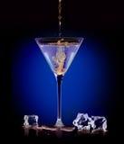 Εξωτικό ποτό πνευμάτων Έκχυση ενός αναμίκτη martini Στοκ φωτογραφία με δικαίωμα ελεύθερης χρήσης