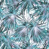 εξωτικό πρότυπο Υπόβαθρο θερινού watercolor Στοκ Εικόνα