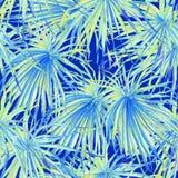 εξωτικό πρότυπο Υπόβαθρο θερινού watercolor Στοκ φωτογραφία με δικαίωμα ελεύθερης χρήσης
