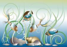εξωτικό πρότυπο ψαριών ενυ Στοκ εικόνα με δικαίωμα ελεύθερης χρήσης
