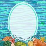 Εξωτικό υπόβαθρο θάλασσας απεικόνιση αποθεμάτων