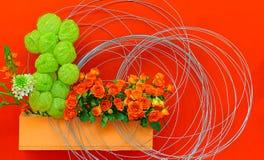 Εξωτικό υπόβαθρο διακοσμήσεων λουλουδιών Στοκ Εικόνες