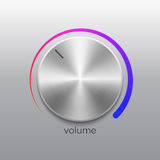 Εξόγκωμα μουσικής με βουρτσισμένη κλίμακα σύστασης και χρώματος μετάλλων τη χρώμιο διανυσματική απεικόνιση