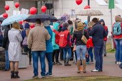 Εορτασμοί ημέρας νίκης στην πάρκο-Ρωσία Berezniki 9 2018 2018 στοκ εικόνα