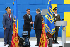Εορτασμοί ημέρας της ανεξαρτησίας σε Kyiv, Ουκρανία Στοκ Εικόνες