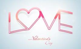 Εορτασμοί ημέρας του ευτυχούς βαλεντίνου με την αγάπη κειμένων διανυσματική απεικόνιση