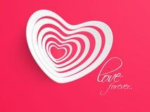 Εορτασμοί ημέρας του ευτυχούς βαλεντίνου με την καρδιά απεικόνιση αποθεμάτων