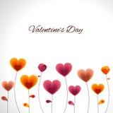 Εορτασμοί ημέρας του ευτυχούς βαλεντίνου με τις καρδιές ελεύθερη απεικόνιση δικαιώματος
