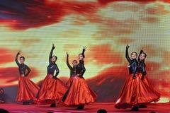 Εορτασμοί κοκκίνου χορού και εμπορικών επιμελητηρίων επιχειρηματιών μαύρων γυναικών Στοκ Φωτογραφία