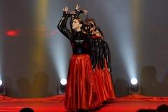 Εορτασμοί κοκκίνου χορού και εμπορικών επιμελητηρίων επιχειρηματιών μαύρων γυναικών Στοκ Εικόνα