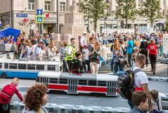Εορτασμοί προς τιμή τα γενέθλια της 870ης επετείου Στοκ εικόνα με δικαίωμα ελεύθερης χρήσης
