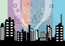 Εορτασμοί πόλεων ελεύθερη απεικόνιση δικαιώματος
