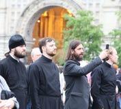 Εορτασμοί στην ημέρα του σλαβικών γραψίματος και του πολιτισμού στη Μόσχα Στοκ Εικόνα