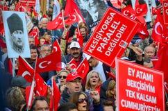 Εορτασμοί της ημέρας Δημοκρατίας, Εσκί Σεχίρ στην Τουρκία στοκ φωτογραφία με δικαίωμα ελεύθερης χρήσης