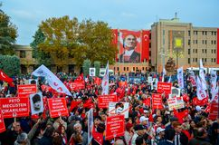Εορτασμοί της ημέρας Δημοκρατίας, Εσκί Σεχίρ στην Τουρκία στοκ εικόνες