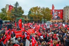 Εορτασμοί της ημέρας Δημοκρατίας, Εσκί Σεχίρ στην Τουρκία στοκ εικόνα