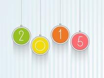 Εορτασμοί της Χαρούμενα Χριστούγεννας και καλής χρονιάς 2015 διανυσματική απεικόνιση