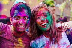Εορτασμοί φεστιβάλ Holi στην Ινδία Στοκ Φωτογραφίες