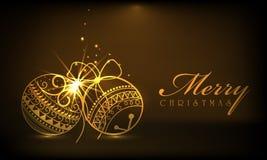 Εορτασμοί Χαρούμενα Χριστούγεννας με τη σφαίρα Χριστουγέννων ελεύθερη απεικόνιση δικαιώματος