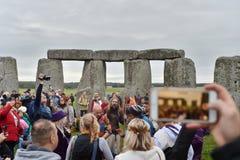 Εορτασμοί Equninox φθινοπώρου σε Stonehenge στοκ εικόνες