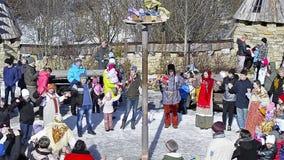 Εορτασμοί Shrovetide, εβδομάδα τηγανιτών απόθεμα βίντεο