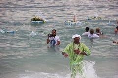 Εορτασμοί Yemanja στην παραλία Copacabana Στοκ φωτογραφία με δικαίωμα ελεύθερης χρήσης