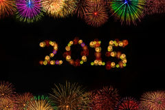 εορτασμός έτους του 2015 με τα πυροτεχνήματα Στοκ φωτογραφίες με δικαίωμα ελεύθερης χρήσης