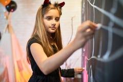 Εορτασμός αποκριές στην τάξη Στοκ φωτογραφία με δικαίωμα ελεύθερης χρήσης