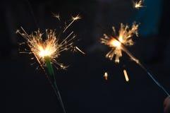 Εορτασμός από τους σπινθήρες Στοκ Φωτογραφίες