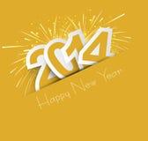 Εορτασμός για τη νέα απεικόνιση σχεδίου έτους 2014 ζωηρόχρωμη απεικόνιση αποθεμάτων